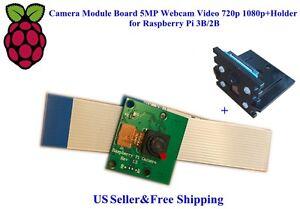 US-Camera-Module-Board-5MP-Webcam-Video-720p-1080p-Holder-for-Raspberry-Pi-3B-2B
