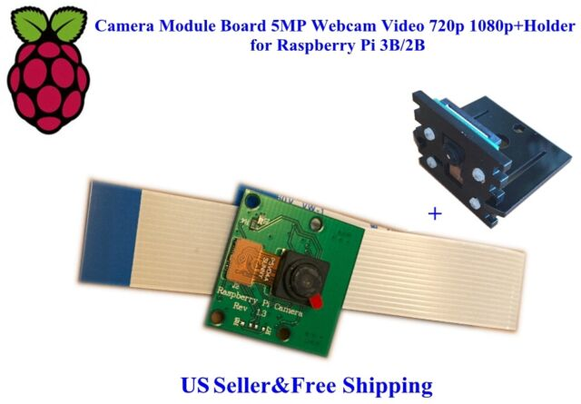 US Camera Module Board 5MP Webcam Video 720p 1080p+Holder for Raspberry Pi 4B/3B
