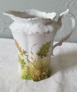 Vintage-Porcelain-Fancy-Creamer-with-Star-or-Snowflake-Back-Stamp