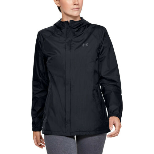 Under Armour Womens Bora Outdoor Jacket Top Black Sports Outdoors Full Zip