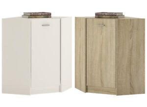 Details about Crescita 1 Door Corner Cupboard in Oak or White Living  Cabinet Bedroom Storage