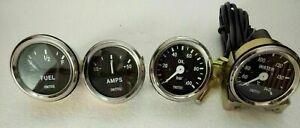 Smiths-Replica-52-mm-2-1-16-034-Temp-Oil-Fuel-Amp-Gauge-kit-Black