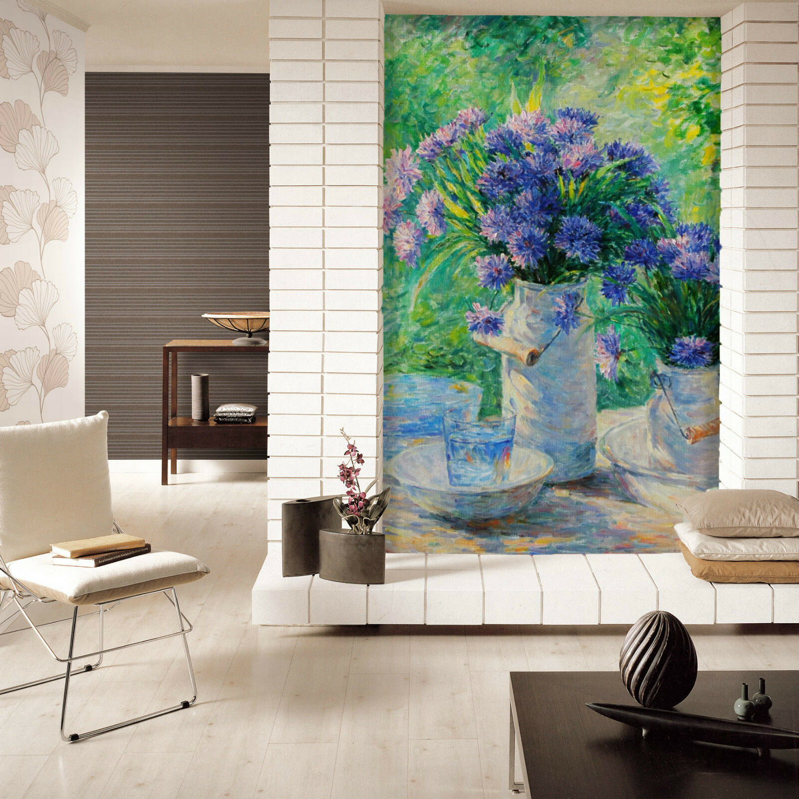 3D purple chrysanthemen 7320 Fototapeten Wandbild Fototapete BildTapete Familie