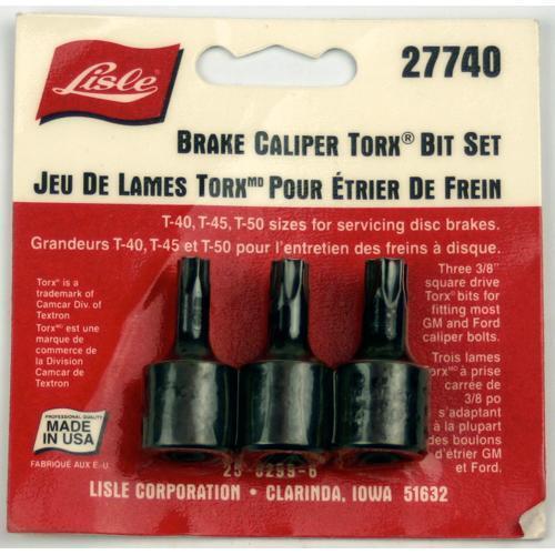 Lisle Tools 27740 Brake Caliper Torx Bit Set