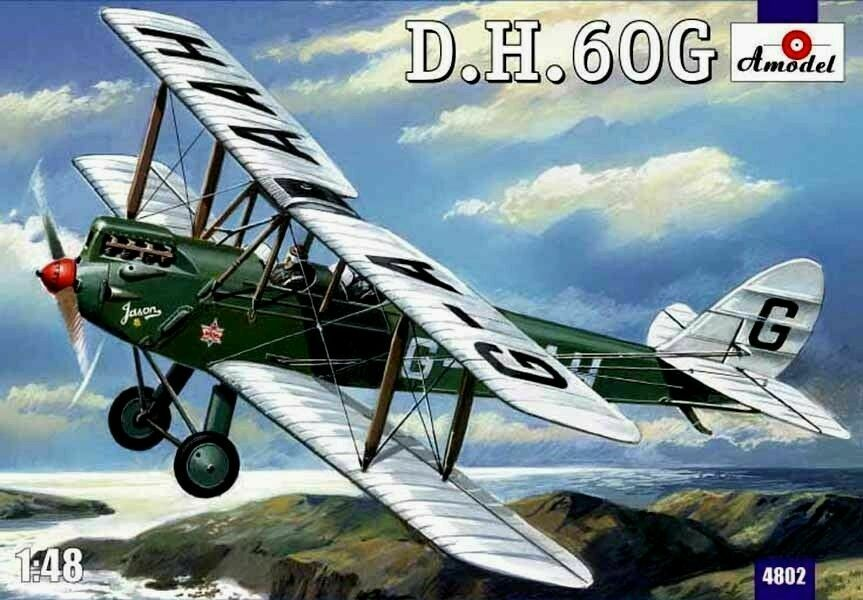 Amodel 4802 - 1 48 De Havilland DH.60G Gipsy Moth Aircraft, scale plastic model