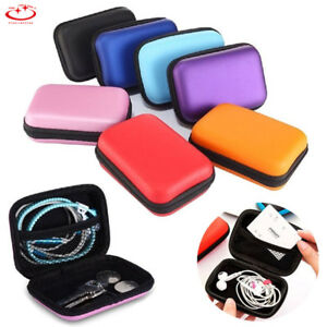Portable-Earphone-Data-USB-Cable-Travel-Case-Organizer-Pouch-Storage-Bag-New