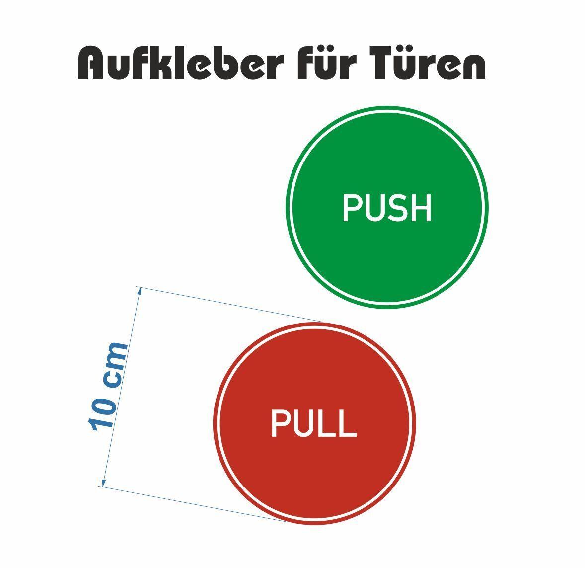 """Aufkleber Verbotszeichen Hinweis Schild /""""Ausfahrt freihalten/"""" Folie Ø5-30cm rot"""
