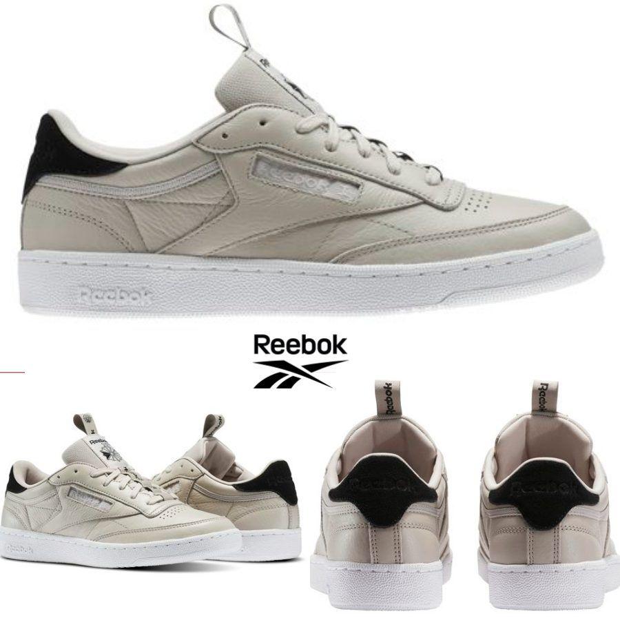 Reebok Classic Club C 85 IT Chaussures Sneakers Beige BS8255 SZ 4-12.5