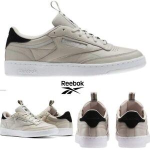 edb4e376bd1 Reebok Classic Club C 85 IT Shoes Sneakers Beige BS8255 SZ 4-12.5