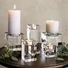 Elegant Crystal Tea Light Holder Party Candle Holder Wedding Tealight Home Decor