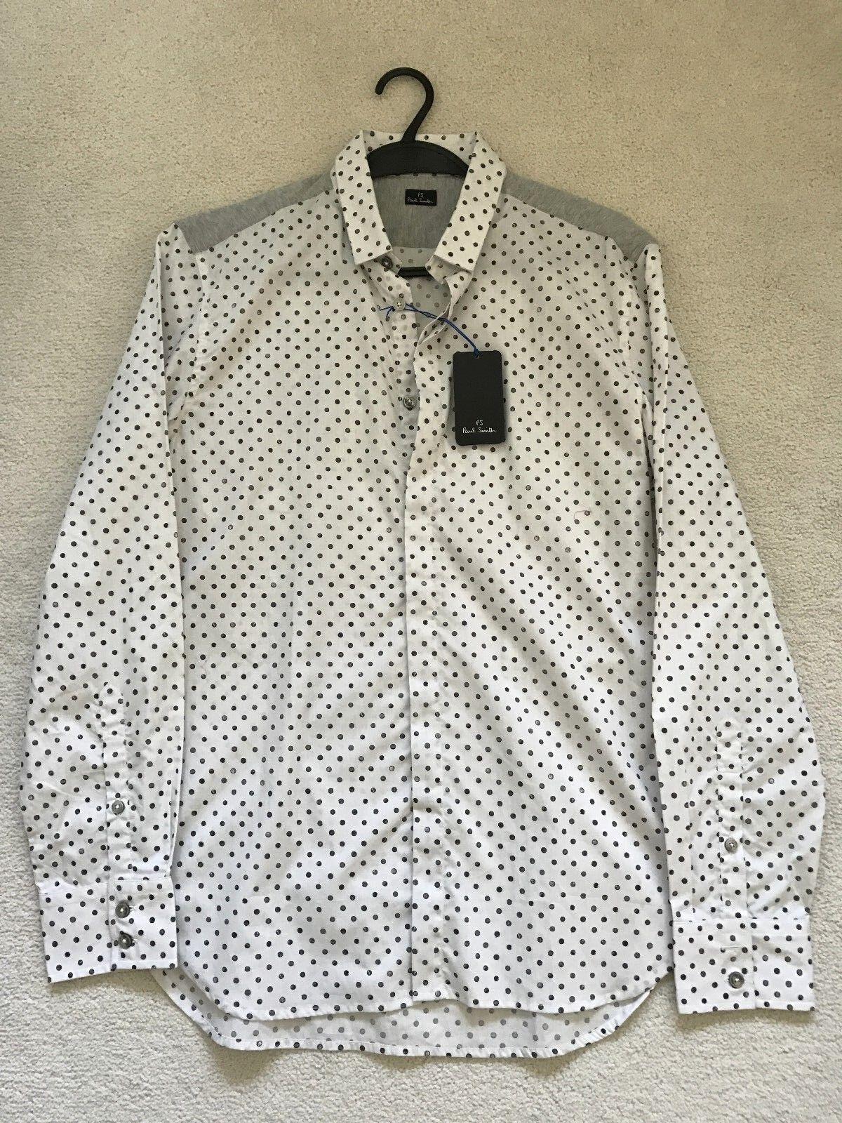 Paul Smith PS  Long Sleeve Circle Graphics Casual Shirt  - M -  p2p 20