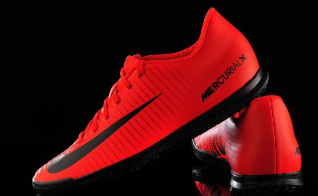 online store d88ca f0bd7 Nike Men's SZ 10 MercurialX Vortex III IC Cleats University Red/Black  831970 616
