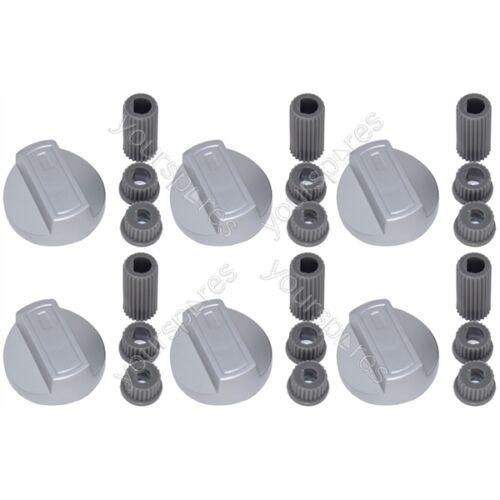 GRILL Manopola di controllo e adattatori argento 6 x Creda UNIVERSALE FORNELLO FORNO