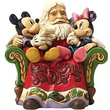 Disney Traditions 4046017 Christmas Wishes Santa with Mickey and Minnie Mouse Fi