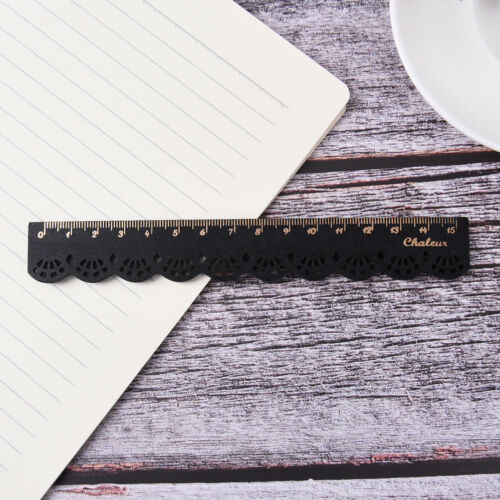Kawaii 15 cm Schreibwaren Spitze Holz Lineal Nähen Lineal Büro Schule Zubehö CXJ