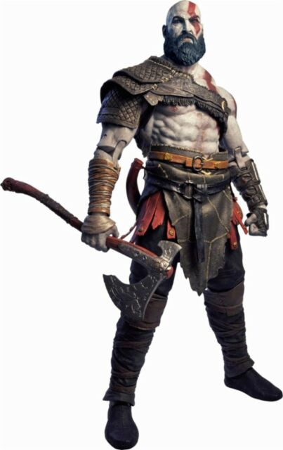 Details About Neca God Of War 2018 Kratos 18 Figure White Red