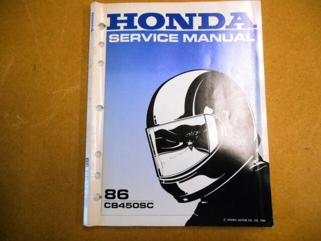 Honda Factory Service Shop Repair Manual 1986 Cb450sc 86