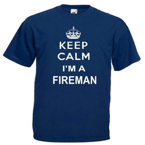 Keep Calm pompier Children/'s Kids T Shirt