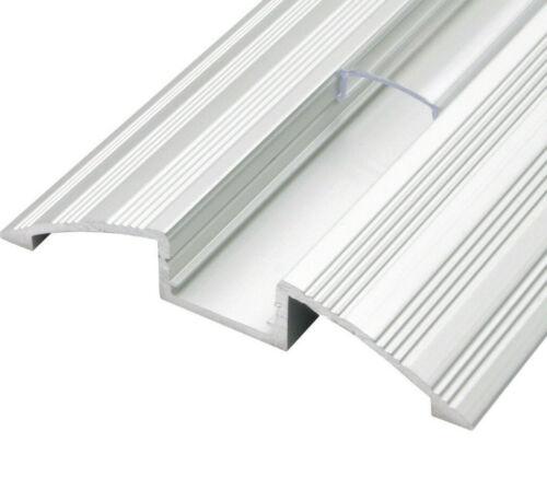 2m Aluprofil Leisten Aluminium Profile Silber für LED Streifen Band Stripe P14