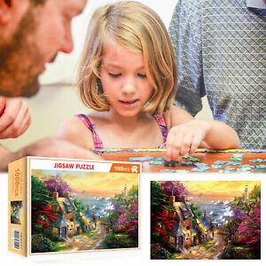 1000-Piece-Jigsaw-Puzzle-Romantique-ville-campagne-paysages-R9E2