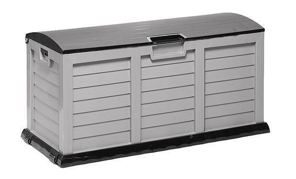 Sentarse arcón jumbo XXL plástico gris antracita 140x60x70cm