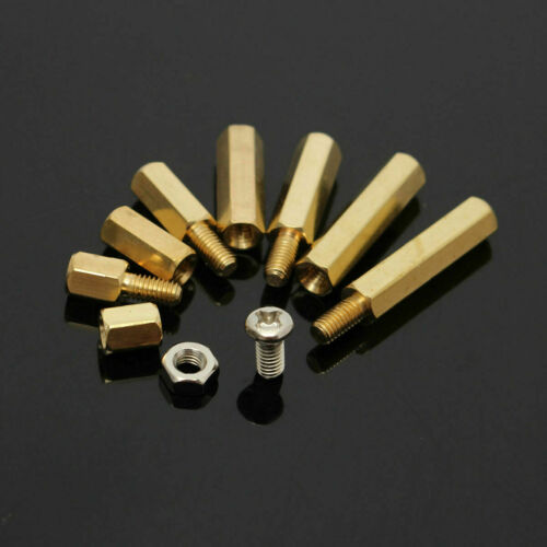 120Pcs M3 Male-Female Brass Hex Column Standoff Support Spacer Kit For PCB Board
