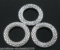 50PCS Wholesale Mixed Lots Soldered Closed Jump Rings Silver Tone 14mm Dia GW