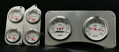 Dolphin Gauges Compatible with 1973 1974 1975 1976 1977 1978 1979 Ford Truck 6 Gauge Dash Insert Polished Billet Aluminum
