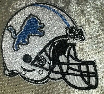 "Detroit Lions NFL 3.5"" Helmet Iron On Embroidered Patch ~USA Seller~FREE Ship!"