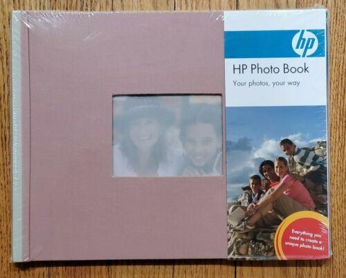 Mauve//Stone Cloth Cover HP Q8793A Expandable Photo Book 25 Pages 8.5 x 11