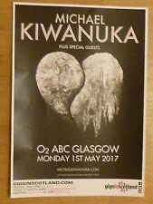 Michael Kiwanuka - Glasgow may 2017 tour concert gig poster