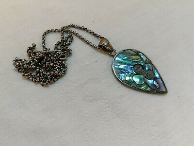 Anchor Pendant 925 Sterling Silver Abalone Accents Nautical Anchors Cruise