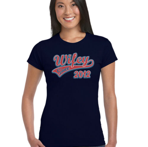 Wifey Since 2012 Womens Funny Wedding Anniversary T-Shirt Wife Valentines Day