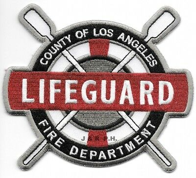 California Los Angeles County CA Lifeguard Fire Dept Patch v2