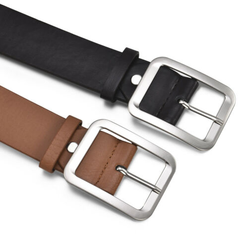 Fashion Men Casual Pin Buckle Belt Leather Belts Waist Strap Waistband 108cm