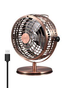 Electroben Usb Retro Desktop Metal Blades Cooling Fan With