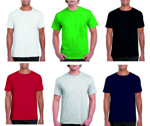 Plain Adult Cotton T shirt 3XL 4XL 5XL Grey Black Navy Green Red White Blue