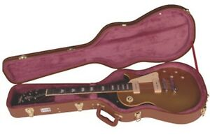Image Is Loading Kinsman CLP7 Les Paul Shaped Guitar Case Brown