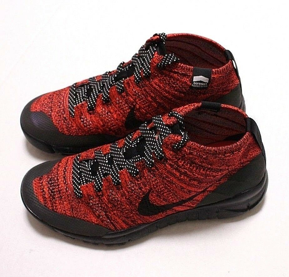 New Nike Flyknit Chukka Women's Sneakerboot, Size 7.5, 805093 603, Org 200