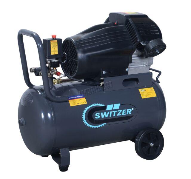 Mobile Air Compressor >> Switzer Sz Ac 006 3hp 50 Litre 230v 13 Cfm Portable Air Compressor Grey