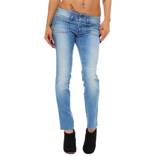 Diesel Jeans Hushy 008XN 8XN Ankle Skinny mittelblau Stretch NEU
