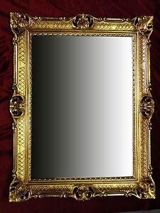 Baroque miroir mural miroir en or antique rococo 90x70 cm renaissance repro ebay for Miroir mural baroque