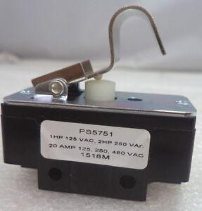 vapor 1516m 1hp-125vac/2hp-250vac 20 amp rail car switch p/