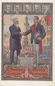 1913-Ansichtskarte-Leipzig-Deutsches-Turnfest-Festkarte