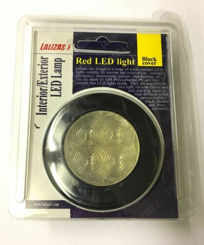 CABIN LIGHT RED LED/'S BOAT YACHT BLACK COVER