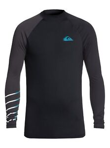 QUIKSILVER-MENS-RASH-VEST-NEW-ACTIVE-BLACK-UPF50-GUARD-LONG-SLEEVE-TOP-8W-13-KV