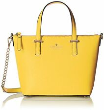 new Kate Spade Cedar Street Harmony Crossbody Solar Yellow Leather Bag NWT $248