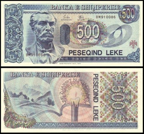 Banknote Paper Money UNC P-57 Albania 500 leke 1994