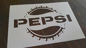 Pepsi-Cola-Pochoir-Reutilisable-Mur-Craft-A-faire-soi-meme-Peinture-Aerographe-decorer-Liege-Logo-A5