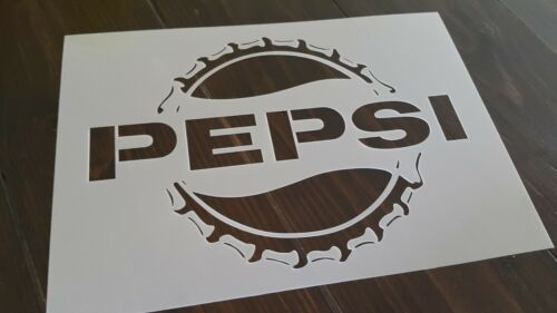 PEPSI Cola Stencil Reusable Wall Craft DIY Paint Airbrush Decorate Cork Logo A5